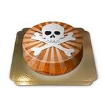 Totenkopf-Torte Schokoladenkuchen mit Schokoladenbuttercremefüllung 6 Portionen