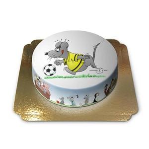 Fussballspieler Torte Schokoladenkuchen mit Schokoladenbuttercremefüllung 6 Portionen