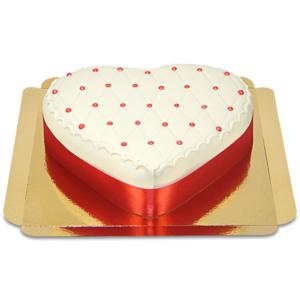 Deluxe Liebestorte in Herzform Schokoladenkuchen mit Schokoladenbuttercremefüllung 10 Portionen