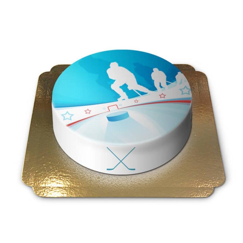 Eishockeytorte Schokoladenkuchen mit Schokoladenbuttercremefüllung 6 Portionen