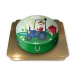 Traktor Kinder-Torte Schokoladenkuchen mit Schokoladenbuttercremefüllung 6 Portionen