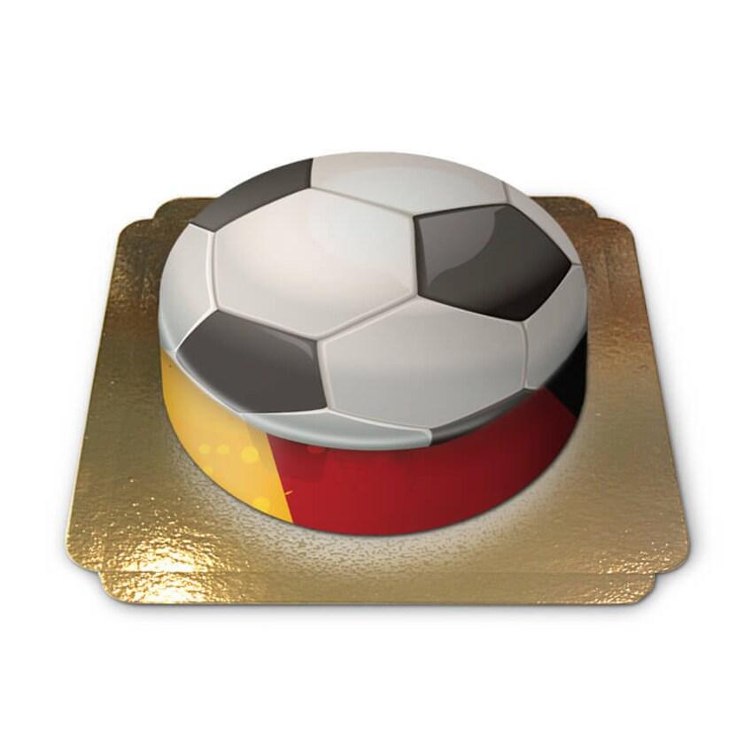 Deutschland-Fußballtorte Schokoladenkuchen mit Schokoladenbuttercremefüllung 6 Portionen