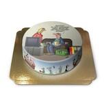 Fußball im TV Torte Schokoladenkuchen mit Schokoladenbuttercremefüllung 6 Portionen