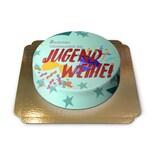 Jugendweihe-Torte Schokoladenkuchen mit Schokoladenbuttercremefüllung 6 Portionen