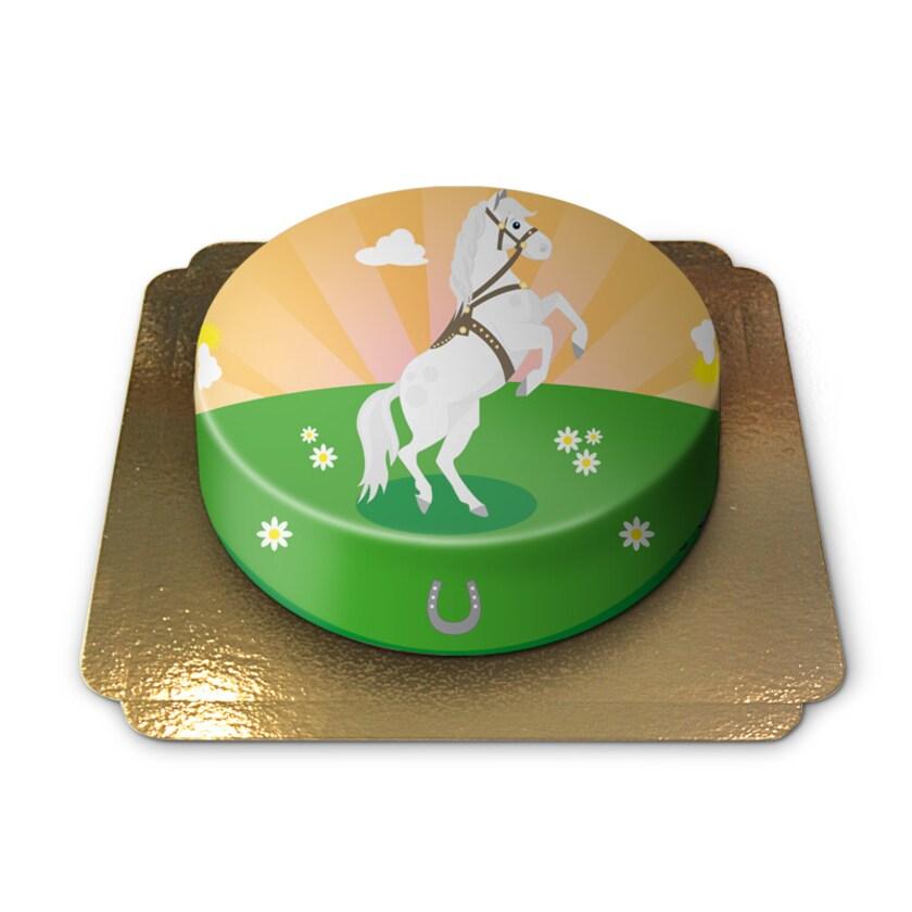 Pferd-Torte Schokoladenkuchen mit Schokoladenbuttercremefüllung 6 Portionen