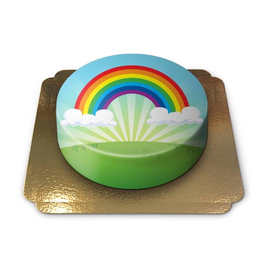 Regenbogen Torte Schokoladenkuchen mit Schokoladenbuttercremefüllung 6 Portionen