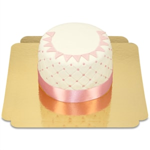 Happy Birthday Deluxe Torte pink 12 Portionen