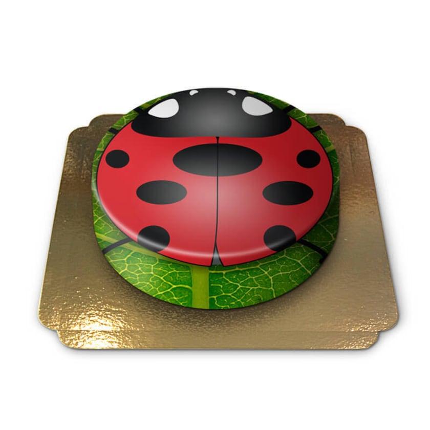 Marienkäfer/Glückskäfer Torte Schokoladenkuchen mit Schokoladenbuttercremefüllung 6 Portionen