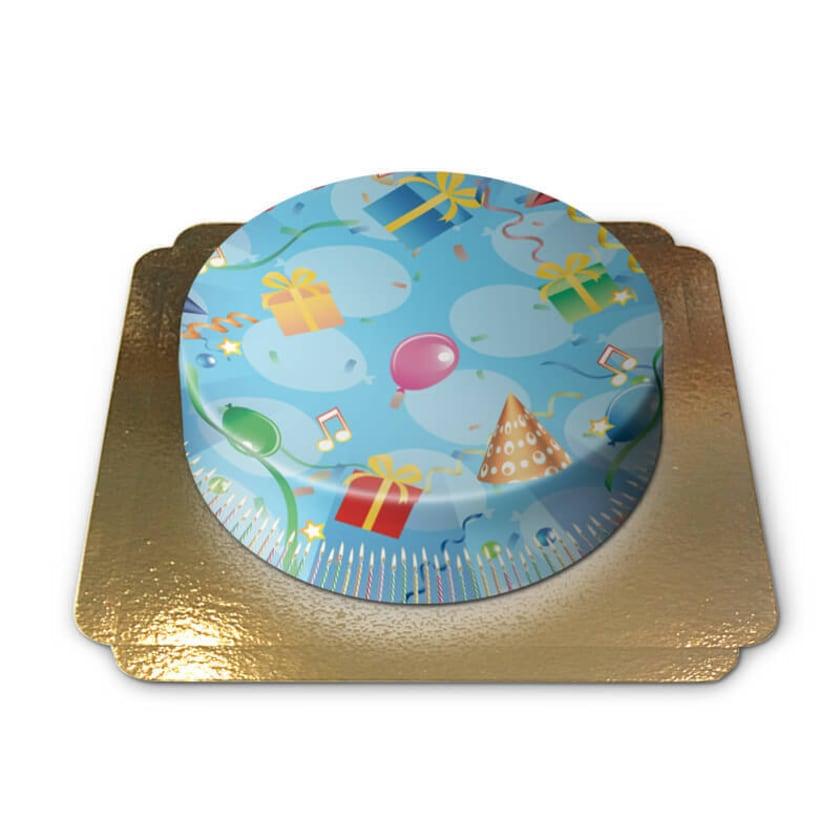 Geburtstagstorte Schokoladenkuchen mit Schokoladenbuttercremefüllung 6 Portionen