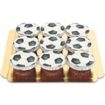 Fußball-Cupcakes Schokolade 9 Stück