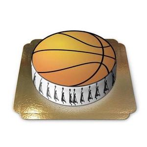 Basketballtorte Schokoladenkuchen mit Schokoladenbuttercremefüllung 6 Portionen