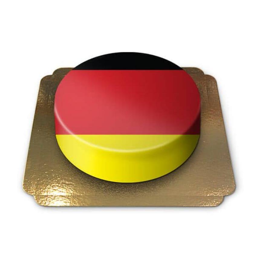 Deutschland-Torte Schokoladenkuchen mit Schokoladenbuttercremefüllung 6 Portionen