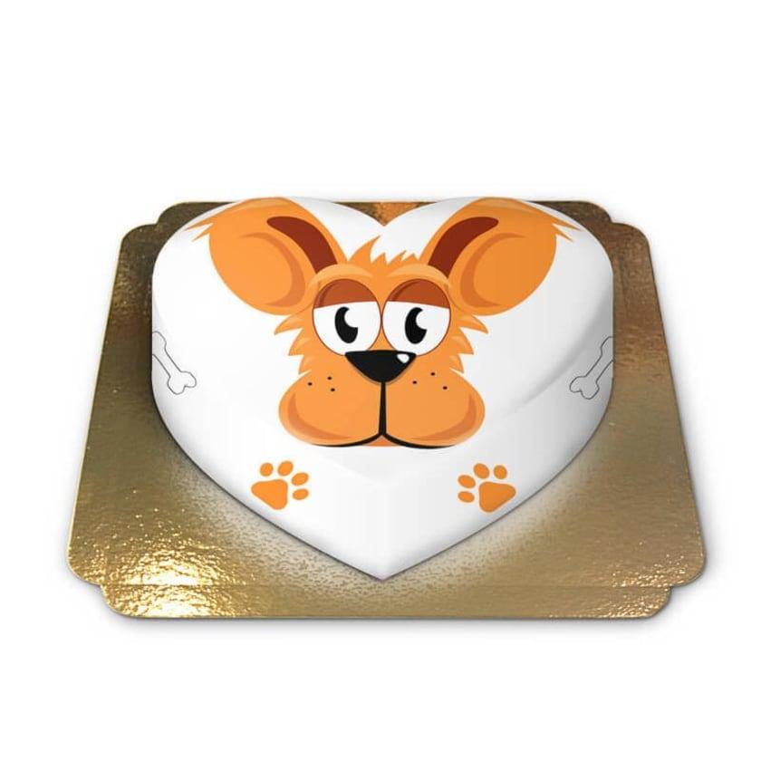 Hunde-Torte Schokoladenkuchen mit Schokoladenbuttercremefüllung 10 Portionen