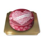 Für die beste Mama Schokoladenkuchen mit Schokoladenbuttercremefüllung 6 Portionen