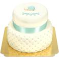 Blaue Tauftorte Schokoladenkuchen mit Schokoladenbuttercremefüllung 36 Portionen