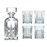 """Nachtmann 0098196-0 Whisky-Set """"Highland"""" Karaffe mit 4 Gläsern Kristallglas klar 5-teilig 1 Set"""