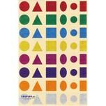 EDUPLAY 200138 Sticker Formen Glitzer, 480-teilig (1 Set)