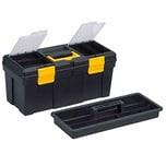 Ironside 100-438 Werkzeugkasten Kunststoff 400 x 220 x 198 mm, schwarz/gelb