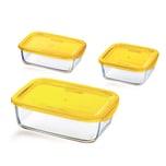 Luminarc Keep'N Box Vorratsdosen-Set, zitrone, 3-teilig (1 Set)