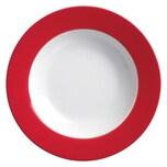 Flirt by R&B 515602 Doppio Suppenteller tiefer Teller Ø 22 cm Porzellan rot 1 Stück