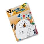 Folia Kindermaske aus Pappe inkl. Gummi, Hund, weiß (6er Pack)