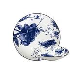 GUSTA 02265620 OTB Peony Suppenteller tief ø 21,5cm, blau/weiß