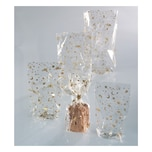 Folia 292 Zellglasbeutel mit goldenem Weihnachtsdruck transparent 145x235mm 10-teilig