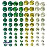 EDUPLAY 360043 Selbstklebende Schmucksteine, grün, 80-teilig (1 Set)