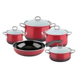 RIESS Topfset brombeer Emaille 5-teilig 1 Set