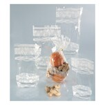 Folia Zellglasbeutel mit weißem Spitzendruck, 180 x 300 mm, transparent (10 Stück)