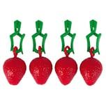 my basics 13493114.824 Tischtuchhalter Erdbeere, 4-teilig (1 Set)