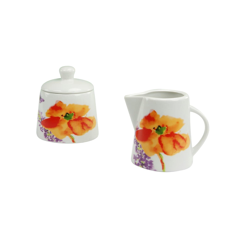 Alba Obst Milch und Zucker Set 2 teilig Porzellan CreaTable 13127