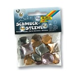 Folia Deko Schmucksteine aus Acryl, Maxi Smoky, mehrfarbig (20er Pack)