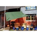 EDUPLAY 160135 Sonnenschutz Sonnensegel, 3,6x3,6m, Quadrat, grün (1 Stück)