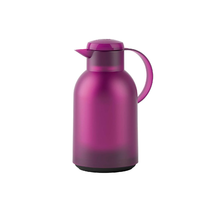 EMSA Isolierkanne Samba Quick Press 1,5 Liter, aubergine transluzent