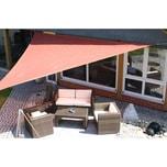 EDUPLAY 160149 Sonnenschutz Sonnensegel, 3x3m, Quadrat, wasserabweisend, rostrot (1 Stück)