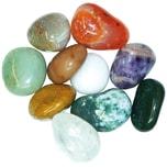 EDUPLAY 200125 Halb-Edelsteine-Mix klein, Mineralgestein, Ø 2-3 cm, bunt (1000 g)
