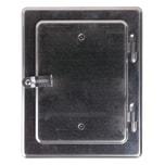 FIREFIX Kamintür 14x20cm verzinkt, verzinkt