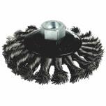 Ironside 243-003/622151 Scheibenbürste 100mm/ M14 13/gezopft, für Winkelschleifer, grau