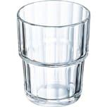 Arcoroc ARC60024 Norvege Trinkglas Wasserglas, 200 ml, Glas, klar