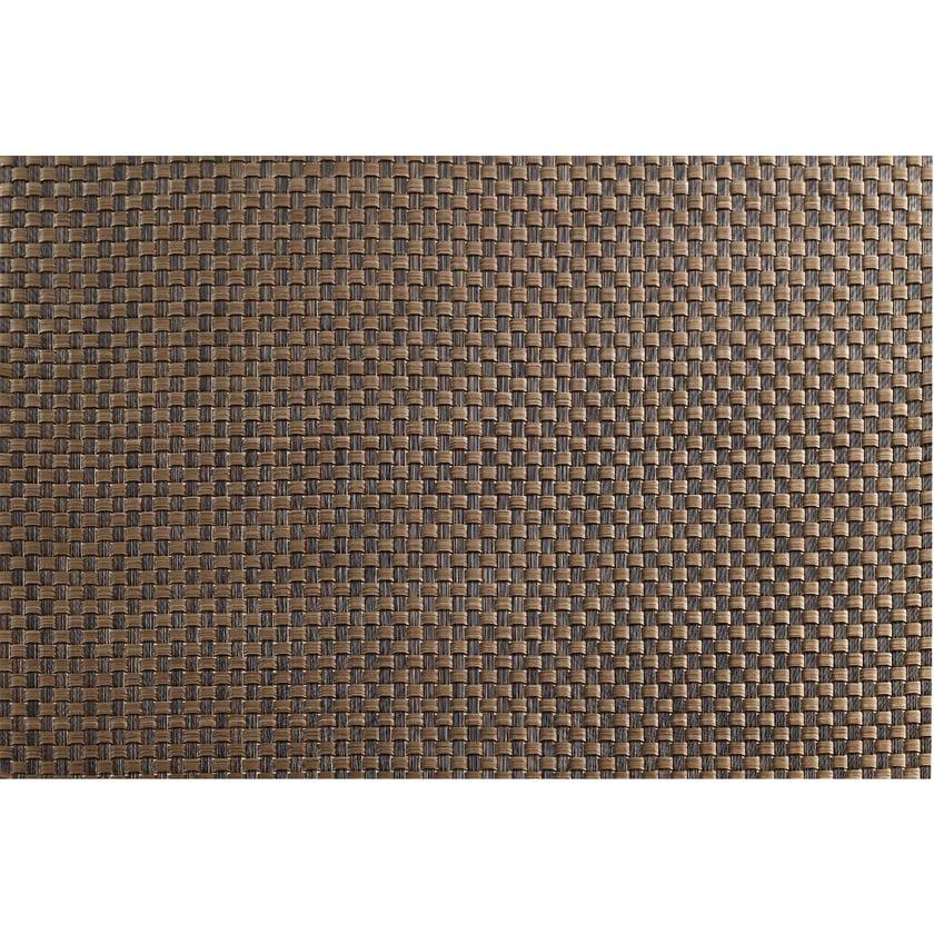 ASA Selection 78027076 Weboptik Tischset, 46 x 33 cm, PVC, kupfer/dunkelbraun