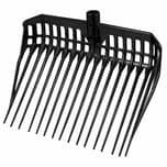 Kerbl 326-052 Dunggabel EcoFork ohne Stiel, Kunststoff, schwarz (1 Stück)