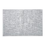 Zeller Present 27009 Scribble Tischset PVC 30 x 45 cm silber 1 Stück