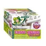 Jolly 8300-0002 Color Tafelkreide, in Kartonschachtel, weiß (100er Pack)