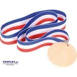 EDUPLAY 210288 Medaille mit Nylonband, Holz, Nylon, Ø 5,2 cm, mehrfarbig