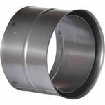FIREFIX R150/WD Ofenrohr Doppelwandfutter, Ø 150 mm, schwarz (1 Stück)