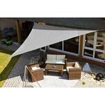 EDUPLAY 160067 Sonnenschutz Sonnensegel, 5x5x5m, Dreieck, grau (1 Stück)