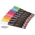 EDUPLAY 240201 Flüssigkreide Stifte, mehrfarbig, 8-teilig (1 Set)