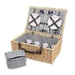 Picknickkorb für 4 Personen 54x37x21cm 1 Stück