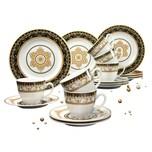 CreaTable 15085 Kaffeeservice Majestosa für 6 Personen weiß/schwarz 18-teilig